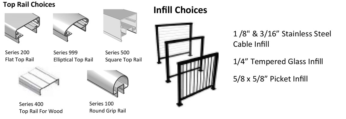 Aluminum Railing With Cable Residential Cable And
